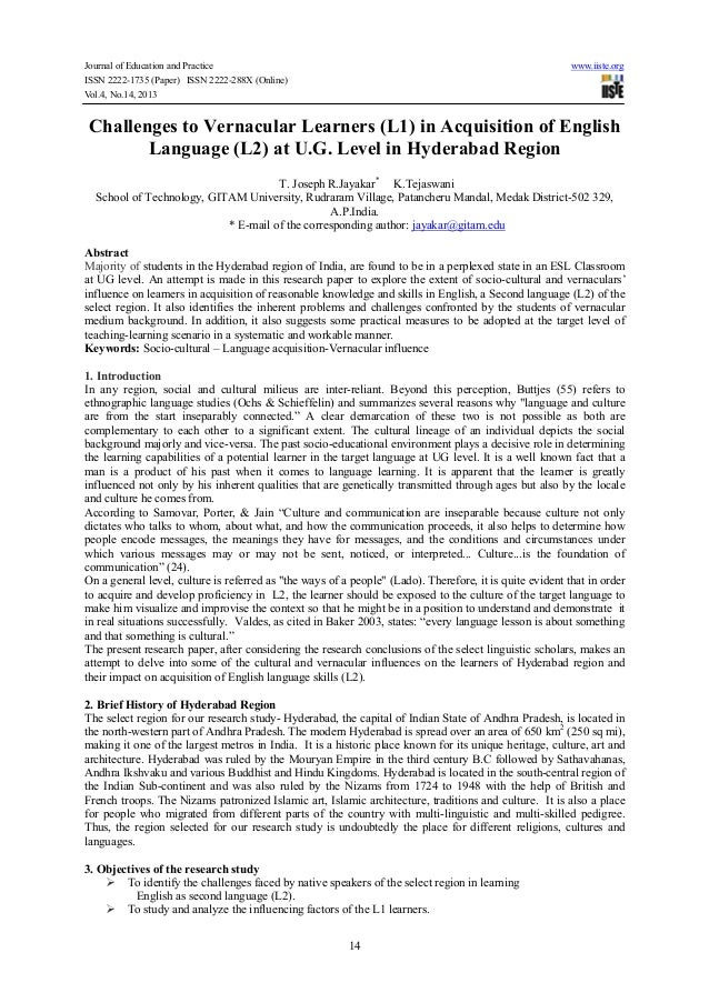 Journal of Education and Practice www.iiste.org ISSN 2222-1735 (Paper) ISSN 2222-288X (Online) Vol.4, No.14, 2013 14 Chall...