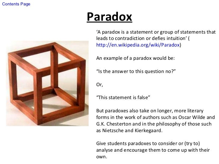 An Example Of A Paradox Images Example Cover Letter For Resume
