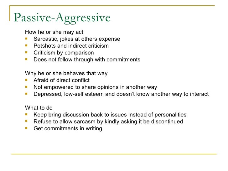 Passive Mother To Aggressive Handle How