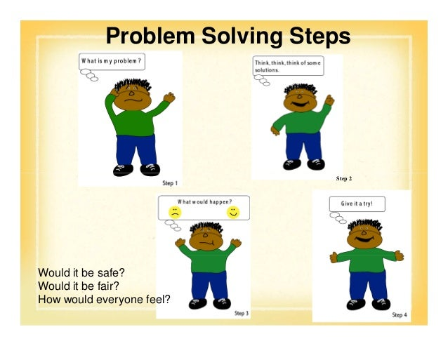 Problem solving steps for young children