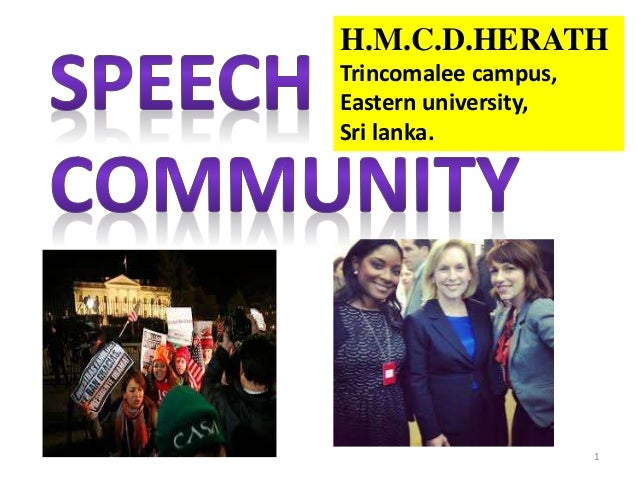speech community