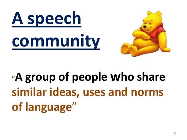 Speech community |authorstream.