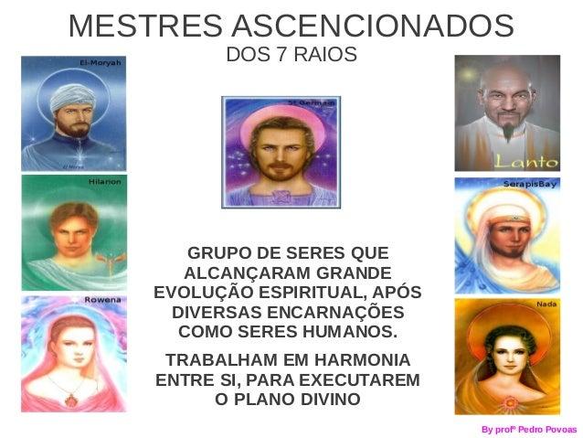 MESTRES ASCENCIONADOS          DOS 7 RAIOS        GRUPO DE SERES QUE       ALCANÇARAM GRANDE    EVOLUÇÃO ESPIRITUAL, APÓS ...