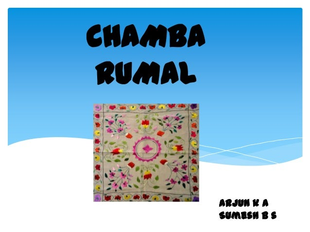 CHAMBA RUMAL         Arjun k a         Sumesh b s