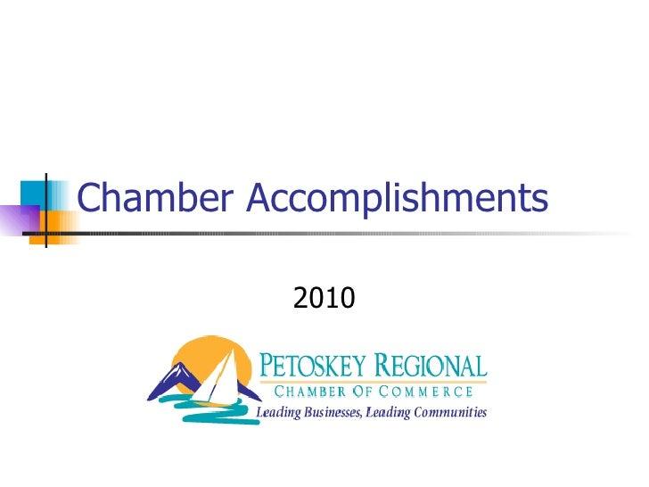Chamber Accomplishments 2010