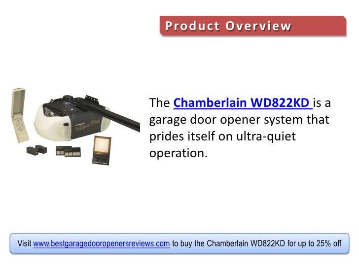 Review Of The Chamberlain Wd822kd Whisper Drive Garage Door Opener