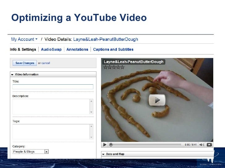Optimizing a YouTube Video
