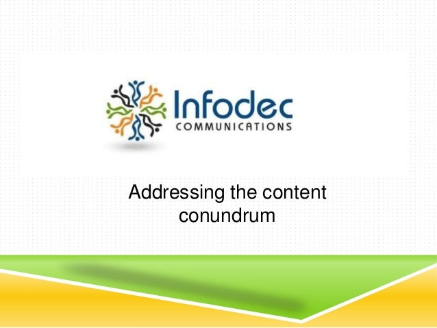 Addressing the content conundrum