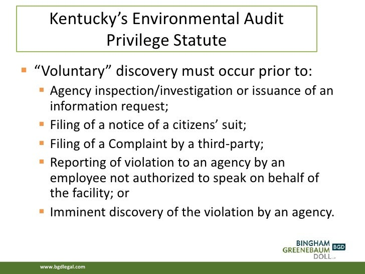 Environmental Auditing and Inspection Survival