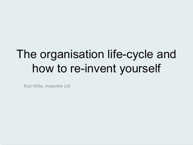 The organisation life-cycle andhow to re-invent yourselfRod Willis, Assentire Ltd