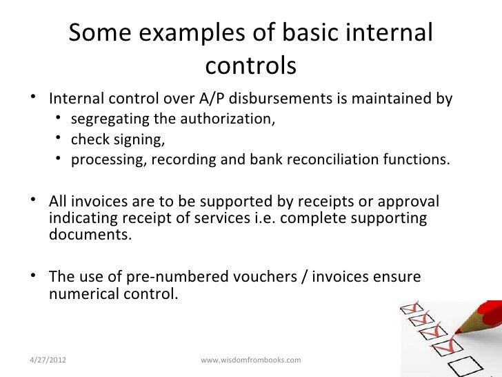 internal controls in accounting essay View this essay on internal control and accounting analysis of abc the report was prepared to cover the requirements of the aat icas unit the aat icas refers.