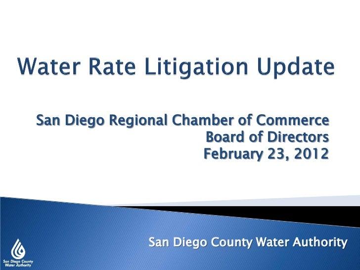 San Diego Regional Chamber of Commerce                       Board of Directors                      February 23, 2012    ...