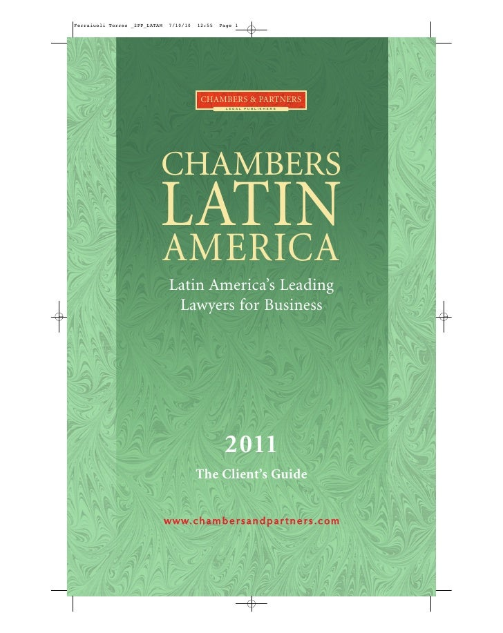 CHAMBERS & PARTNERS                  LEGAL PUBLISHERS     CHAMBERS LATIN AMERICA  Latin America's Leading   Lawyers for Bu...