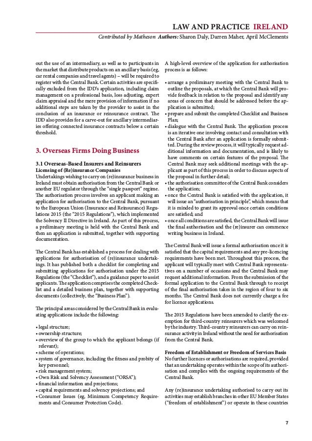 Law and Practice IRELAND Contributed by Matheson Authors: Sharon Daly, Darren Maher, April McClements 7 out the use of an ...
