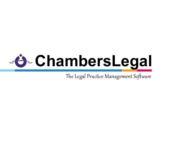 The Legal Practice Management Software ChambersLegal