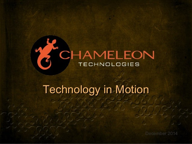 Technology in MotionTechnology in Motion December 2014