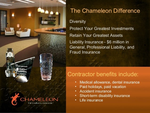 The Chameleon Difference Diversity Protect Your Greatest Investments Retain Your Greatest Assets Liability Insurance - $6 ...