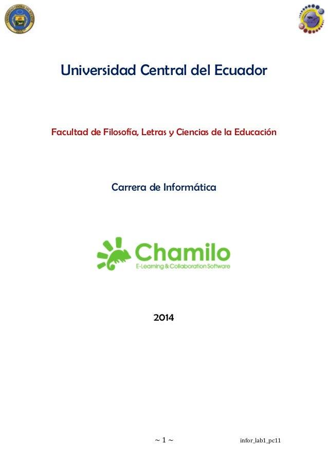 ~ 1 ~ infor_lab1_pc11 Universidad Central del Ecuador Facultad de Filosofía, Letras y Ciencias de la Educación Carrera de ...