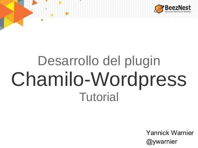 Desarrollo del plugin Chamilo-Wordpress
