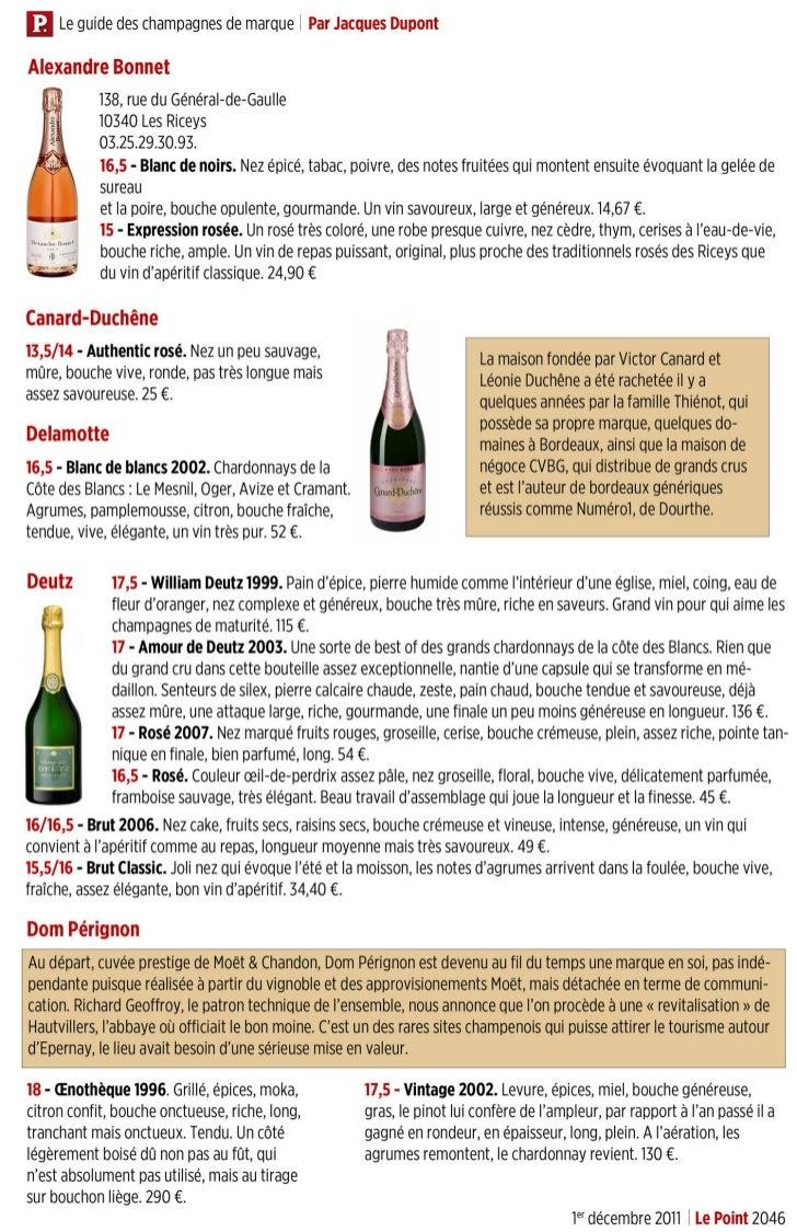 Le guide des champagnes de marque