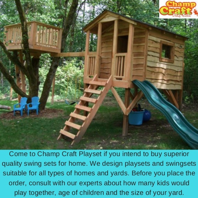 Wooden Outdoor Playsets Champ Carft Play Sets