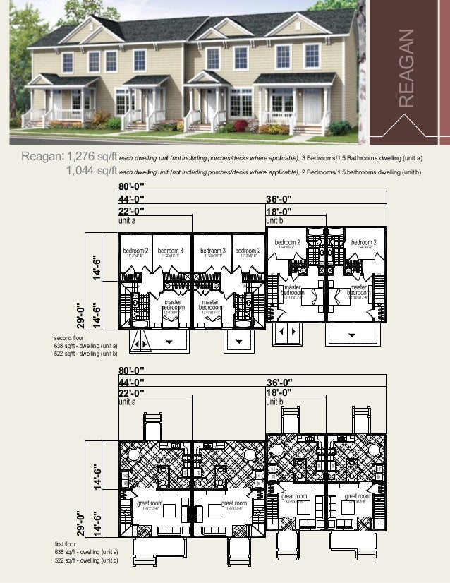 Multi family dwelling unit floor plan for Family home designs