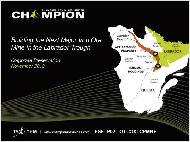 Champion Iron | Iron ore mine | Mining company | Quebec