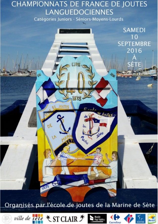 Le mot du président Depuis 40 ans, l'école de joutes de la Marine de Sète organise des tournois chariots et barques pour l...