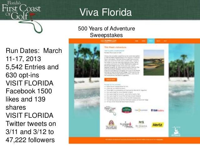 Florida 500 years of adventure sweepstakes online