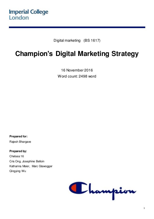 2fd138c57 Champion s Digital Marketing Strategy