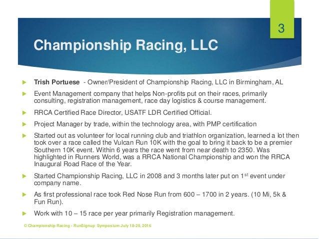 Race Director Checklist