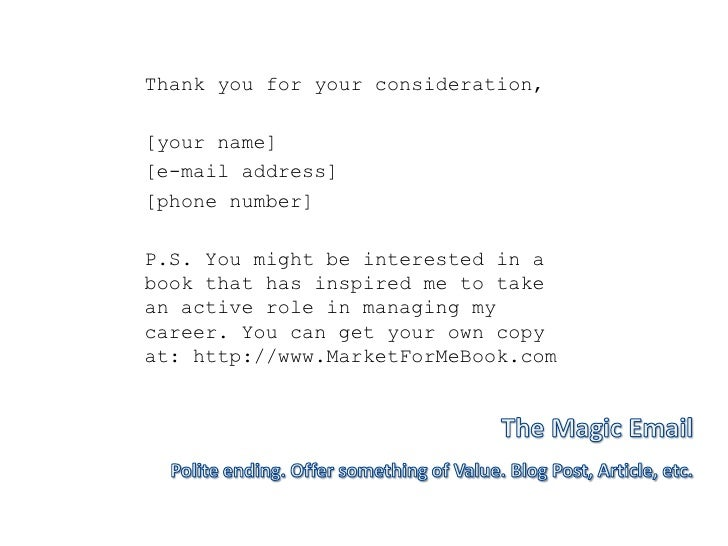 thank you for job opportunity email