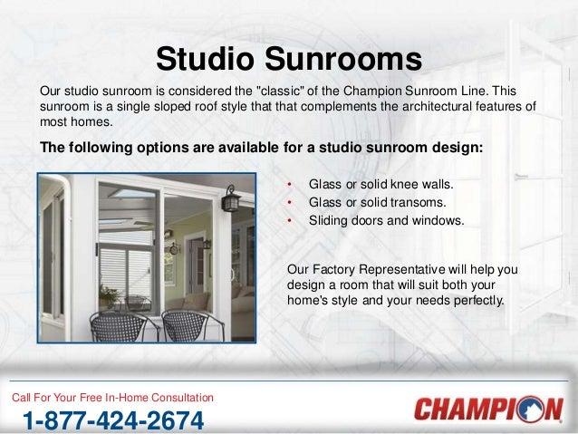 Premium Home Sunrooms from Champion