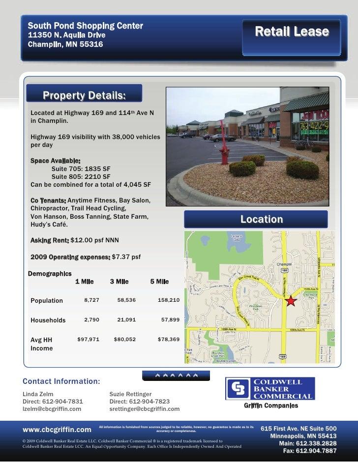 South Pond Shopping Center   11350 N. Aquila Drive                                                                        ...