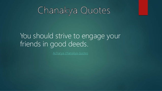 Best Quotes Of Chanakya