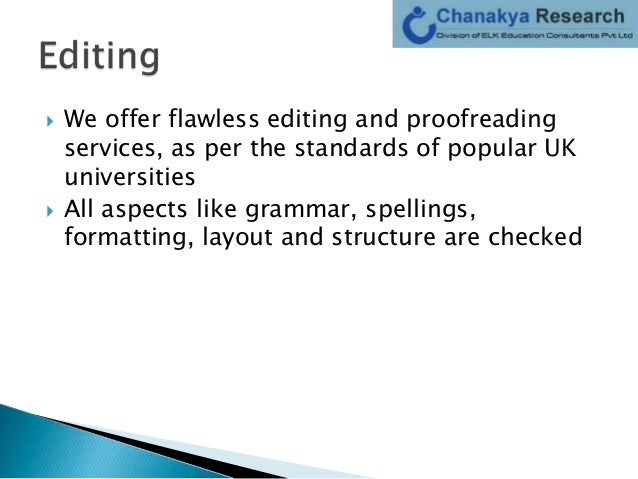 Proofreading phd thesis uk