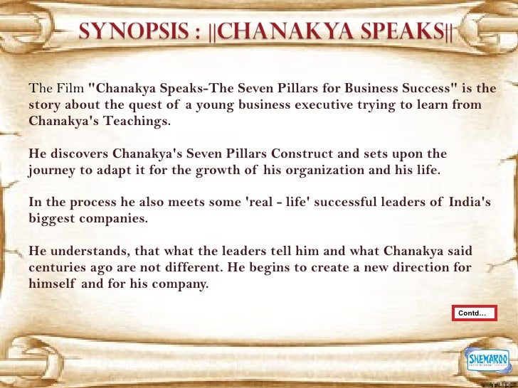 Chanakya Speaks The Seven Pillars Of Business Success