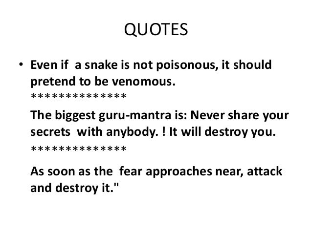 Chanakyas Quotes