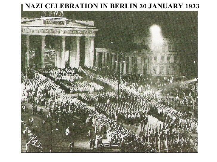 NAZI CELEBRATION IN BERLIN 30 JANUARY 1933