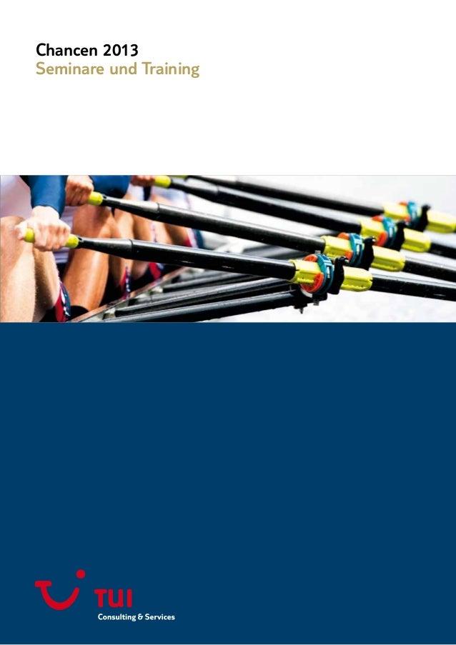 Chancen 2013Seminare und Training