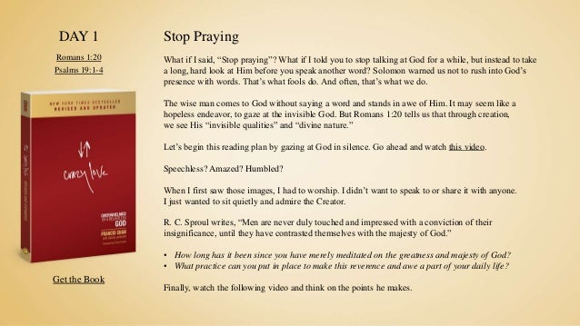 Crazy Love Reading Plan By Francis Chan