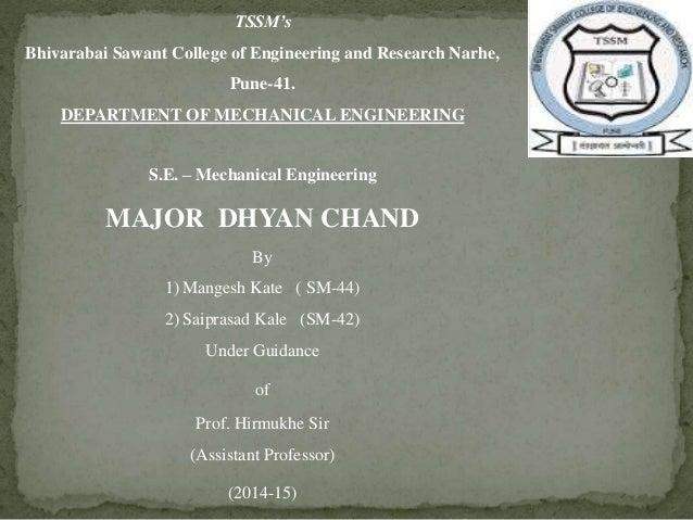 TSSM's  Bhivarabai Sawant College of Engineering and Research Narhe,  Pune-41.  DEPARTMENT OF MECHANICAL ENGINEERING  S.E....