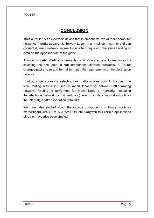 Chandan singh seminar report pdf       router