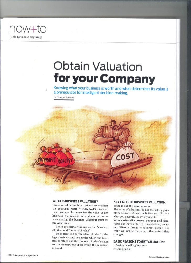 How to Obtain Valuation for Your Company