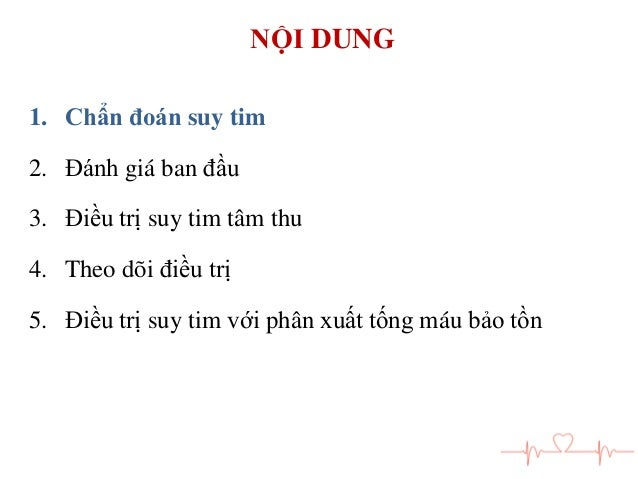 Chan doan va dieu tri suy tim man Slide 3