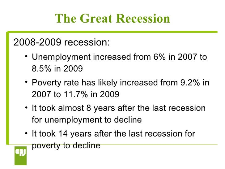 Causes of the Great Recession