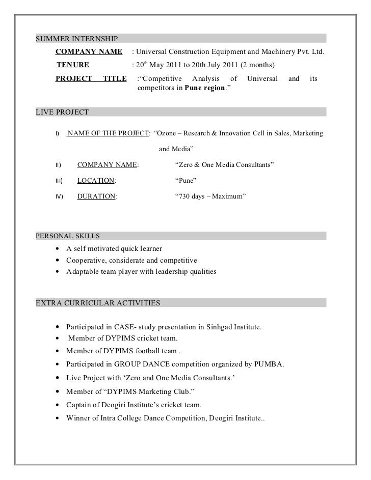 chandraprakash resume 1 - Competitive Resume