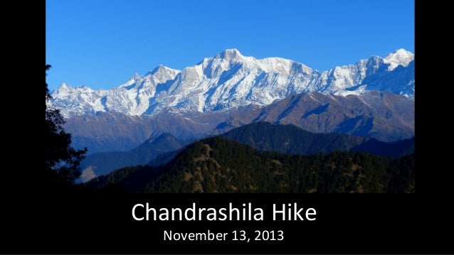 Chandrashila Hike November 13, 2013