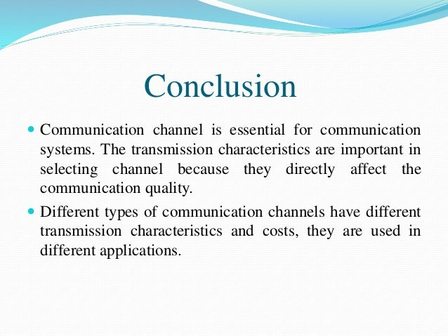 Different Communication Channels