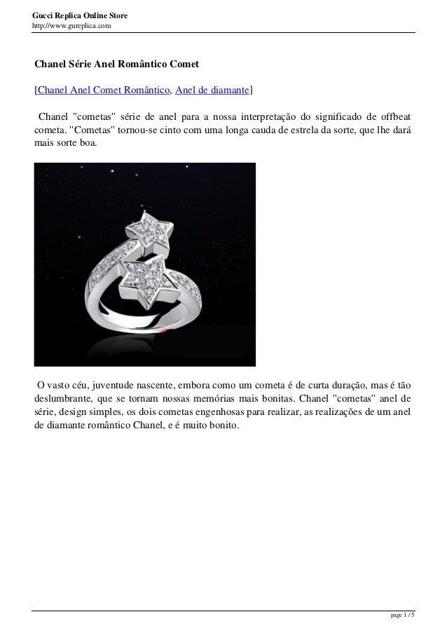 Gucci Replica Online Storehttp://www.gureplica.comChanel Série Anel Romântico Comet[Chanel Anel Comet Romântico, Anel de d...